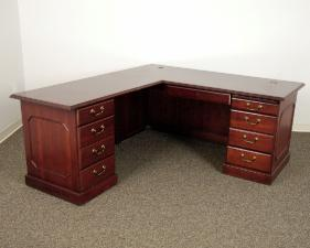 Kimball L Desk 66x30 With Left Hand Return 45x24